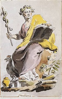 an allegorical figure of medicine by pietro de angelis