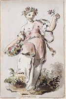 an allegorical figure of spring by pietro de angelis
