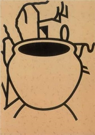 fern pot (portfolio of 3 screenprints) by patrick caulfield