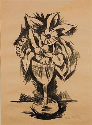 flowers in goblet #3 by marsden hartley