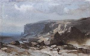 coastal landscape with cliffs by eugène ciceri