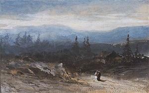 alpine landscape by eugène ciceri