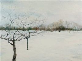 winter trees (sold) by karen blackwood