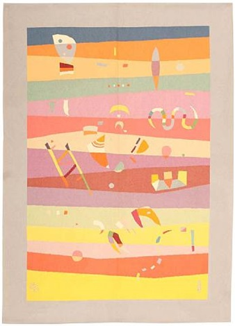 antique deco french bauhaus rug by wassily kandinsky