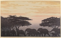 Evening in East Africa, 1977, 1977