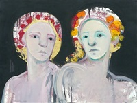 two women on black by selina trieff
