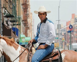 <!--13-->black cowboys: horseback portraits: kareem, harlem by andrea robbins and max becher