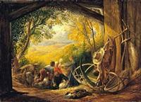 the shearers by samuel palmer