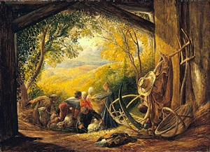 the shearers by samuel palmer