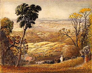 the golden valley by samuel palmer