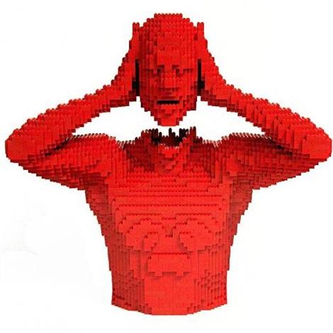 red head by nathan sawaya