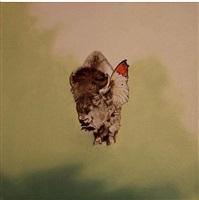 green butterfly bison by marianna gartner