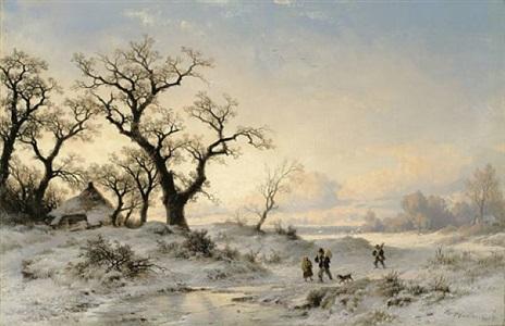 winterlandschaft by remigius adrianus van haanen