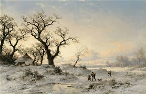 winterlandschaft by remigius adrianus van haanen