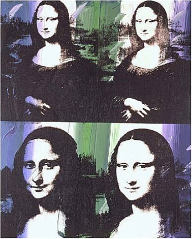 mona lisa - four times by andy warhol