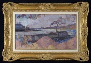 les quais de la seine, a ivry by armand guillaumin