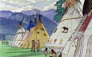 indian days, banff by walter joseph phillips