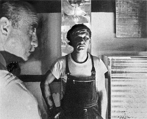 fontana and mack in the studio of mack