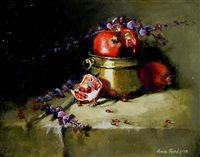 pomegranates and brass by anne hardy