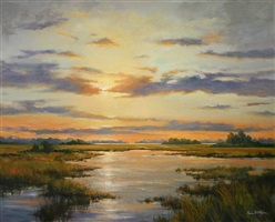 sunset, banks refuge by paula holtzclaw