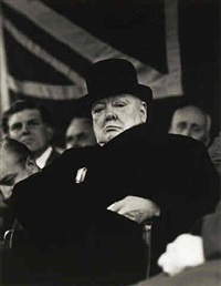 prime minister winston churchill at biggleswade, england, 1955 by carl mydans