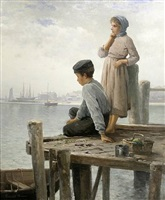 dockside daydreams by edward moran