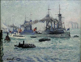u.s. battleships down the hudson by hayley lever