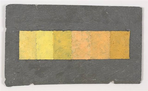 6 brands of naples yellow on slate tile by merrill wagner