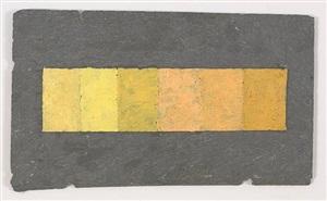 6 brands of naples yellow on slate tile by merrill wagner