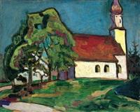 dorfkirche in riedhausen bei murnau by gabriele münter