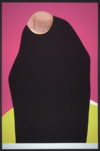 foot and stocking (with big toe exposed): kim by john baldessari