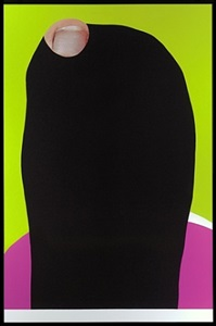 foot and stocking (with big toe exposed): shelly by john baldessari