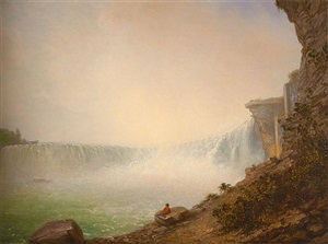 niagara falls from the canadian side, table rock by rembrandt peale