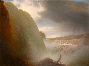 niagara falls, viewed from the american side by rembrandt peale