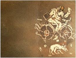benito juarez con bicicleta by francisco toledo