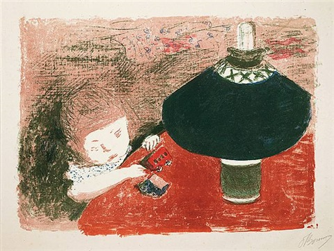 l'enfant à la lampe by pierre bonnard