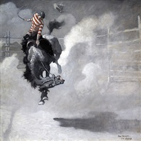 a coud of dust poured over him by newell convers wyeth