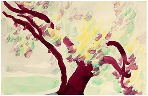 untitled (old tree) by georgia o'keeffe
