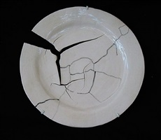 plate with crack by mary carlson