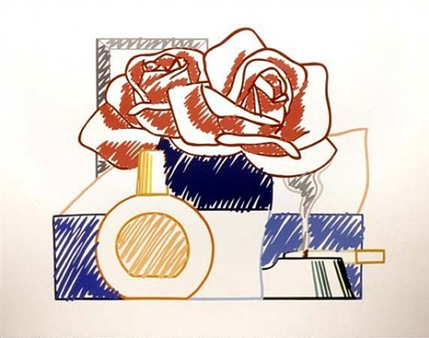 scribble version of still life #58 by tom wesselmann