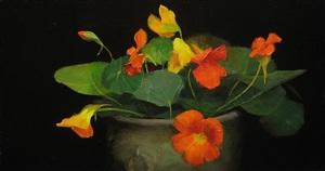 nasturtiums by john smith (sold)