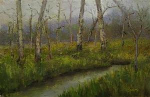 woodland stream by john smith (sold)