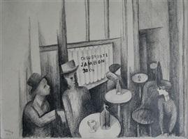 paris café by moïse kisling