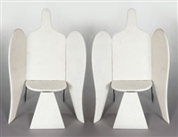 bird armchairs (large model) (pair) by françois-xavier lalanne