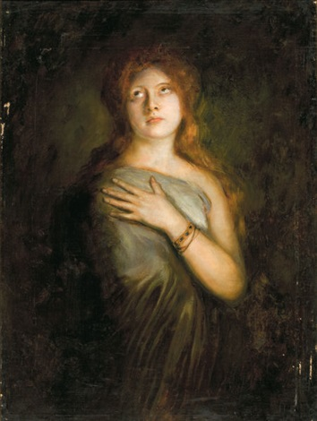 a red haired beauty by franz seraph von lenbach