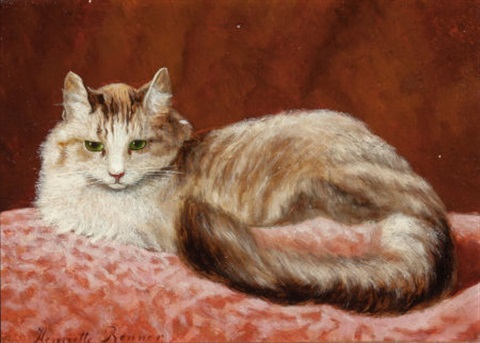 perched kitten by henriette ronner knip