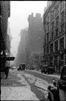 west 22nd street, falling snow, nyc by david vestal