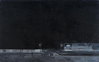 untitled (black street) by hurvin anderson
