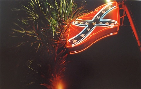 "untitled (neon confederate flag) from the ""troubled waters"" portfolio by william eggleston"