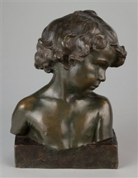 buste de fillette (bust of a girl) by jean-marie camus